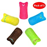 Didog 5 Pack Interactive Cat Catnip Toys Funny for Kitten Kitty Cat Kicker Teething Chew Playing