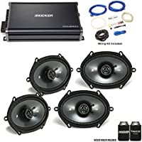 "Kicker 43CSC684 6x8"" CS-Series Speakers (2 pair) with 43CXA3004 CX-Series Amplifier and wire kit"