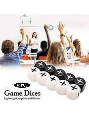 Bestlle 10PCS / Set Dados de Matemáticas, Acrílico Aritmético Matemáticas Enseñanza Más Minus Sign Dice Juegos de Mesa Portátiles Juguetes