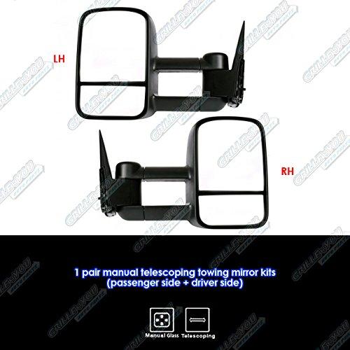 APS 1999-2007 Chevy//GMC Silverado//Sierra Manual /& Telescoping Towing Mirror Pair