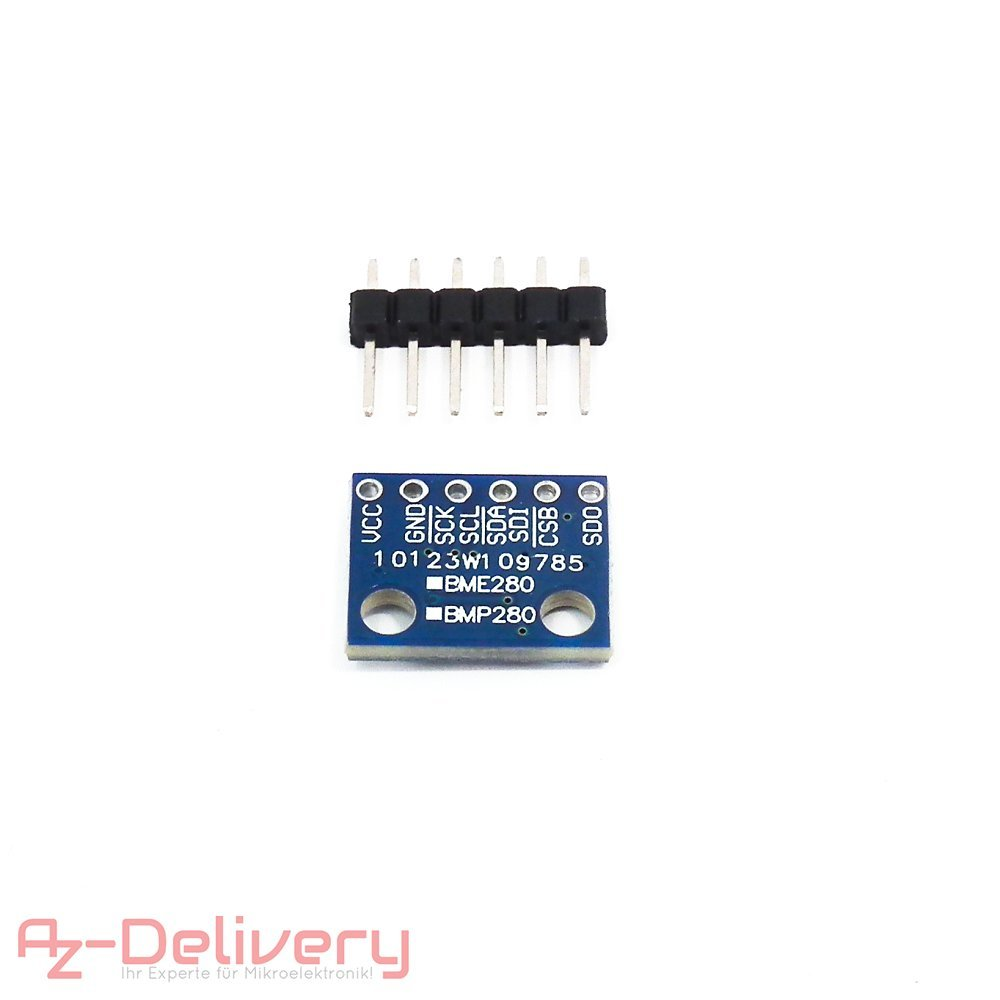 AZDelivery ⭐⭐⭐⭐⭐ 5 x GY-BMP280 Sensore Pressione Barometrica per Arduino e Raspberry Pi con eBook Gratuito!