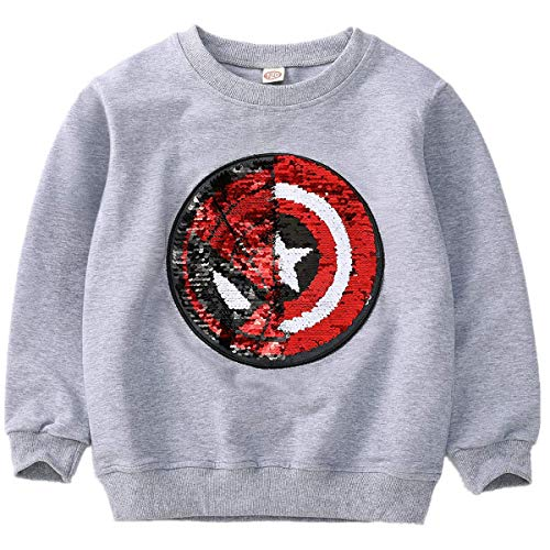 Frontiersman Flip Sequins for Boys Kids Girls Magic Sequin Fashion Hoodies /& Sweatshirts Cotton Long Sleeve Size 3-8 Years