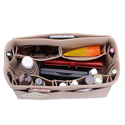 CEEWA  Felt Purse Organizer –Multi Pocket Bag in Bag Organizer fit Tote & Handbag Shaper fits Speedy 30 and Speedy 40 (Large, (Pocket Handbag Organizer)