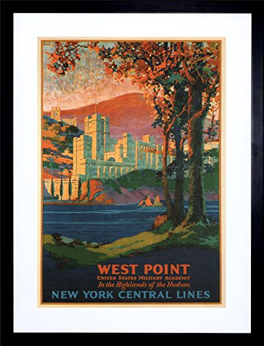 TRAVEL WEST POINT MILITARY ACADEMY VINTAGE ART FRAME PRINT PICTURE F12X1542
