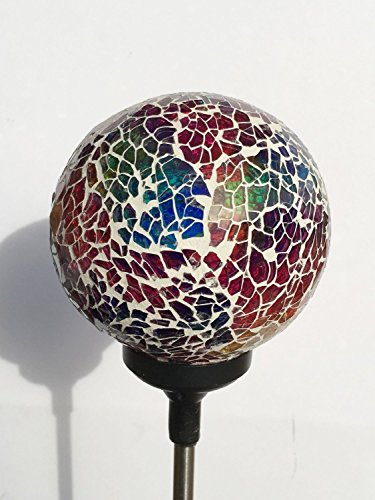 Solar Powered Led Mosaic Glass Garden Stake Lights in Florida - 2