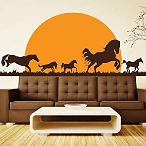 Walliv Decals Racing Horses [birds & Animals, An01]