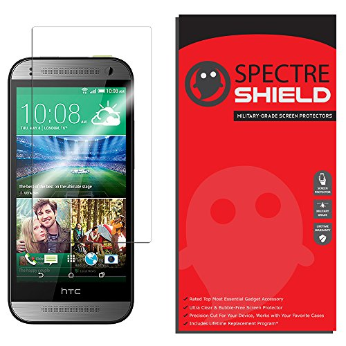 HTC One Remix (One Mini 2) Screen Protector by Spectre Shield Full Coverage Invisible HD Clear Anti-Bubble Anti-Scratch - Remix Scratch