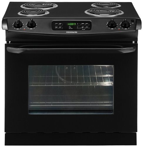 30 In. Drop-in Electric Range – Black