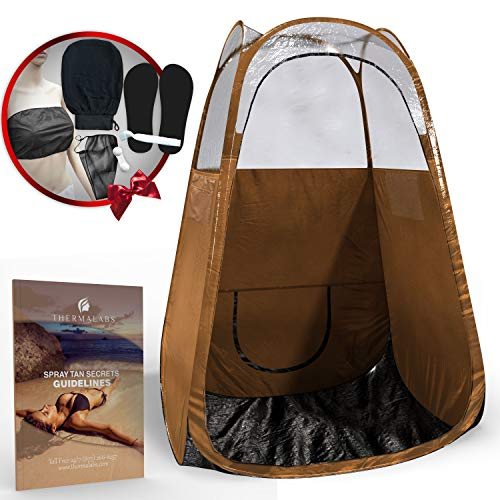 (Spray Tan Tent (Bronze) The Best, Bigger Than Others, Folds Easily in 30 Seconds and Has NO Logo On Tent Itself! Professional Sunless Tanning Pop-Up Spraying Booth for Airbrush Art,)
