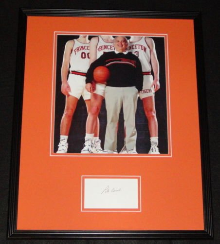 (Pete Carril Signed Framed 16x20 Photo Display Princeton)