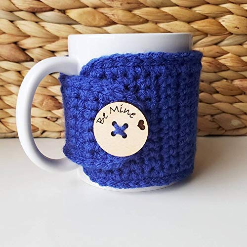 Royal Blue Be Mine Mug Cozy