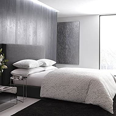 Vera Wang Dragonfly Wing Duvet Cover, Queen, White