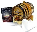 Engraved 2 Liter Charred American White Oak Aging Barrel (Come & Take It)
