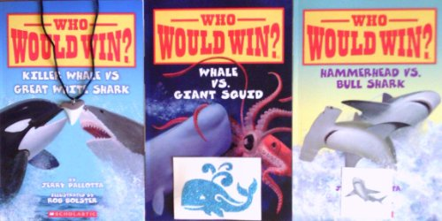 Who Would Win? Set, Killer Whale Vs. Great White Shark (Who Would Win?), Hammerhead Vs. Bull Shark (Who Would Win?), Whale Vs. Giant Squid (Who Would Win) (Whale Great White)