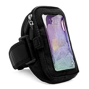 Black VG Zippered Hardcore Workout Armband for Motorola Droid Turbo Verizon Smart Phone