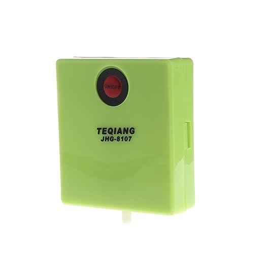 LANDUM Acuario Batería Seca Accionador de Peces Bomba de Aire Aireador Oxígeno con Aire Piedra 7x6.4x2 cm: Amazon.es: Hogar