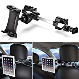 iKross Car Tablet Mount Holder Universal Backseat Headrest Extendable Mount for Apple iPad, iPhone, Tablet, Smartphone, Nintendo Switch with Dual Adjustable Positions and 360° Rotation