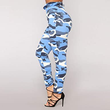 db5fe15db63429 Dream Room Damen Camo Hose Casual Hosen Militär Armee Elastische Taille  Camouflage Hose: Amazon.de: Bekleidung