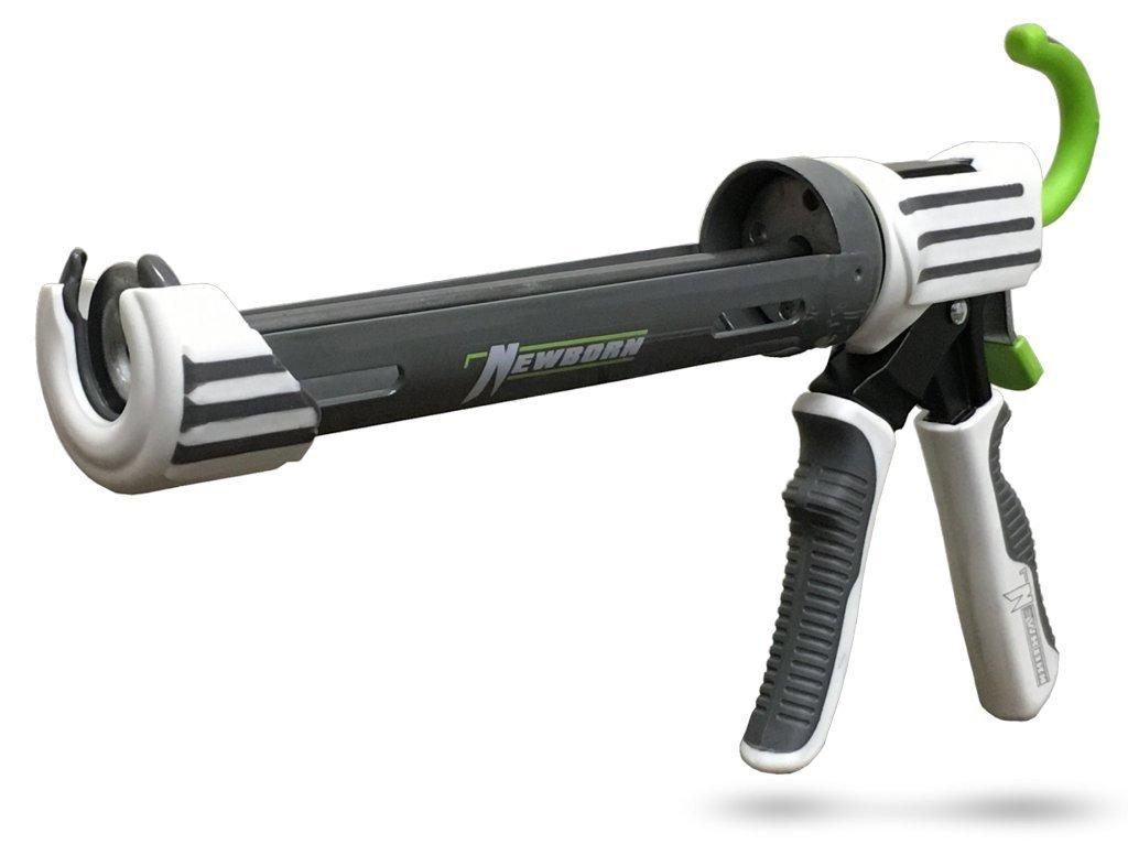 Newborn 290 Elite Series Caulking Gun, 1/10 Gallon Cartridge, 22:1 Thrust Ratio