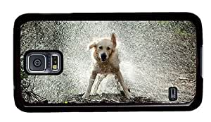 Hipster Samsung Galaxy S5 Cases waterproof Dog Shake Water PC Black for Samsung S5