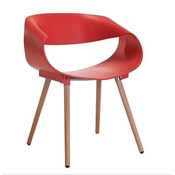XUEYAN XX Chaise Moderne Minimaliste Cratrice Design Pour Discuter Solide Dossier En Plastique