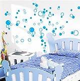 i.LifeUK Autocollant décoratif pour mur/fenêtre de salle de bain Motif 44 bulles