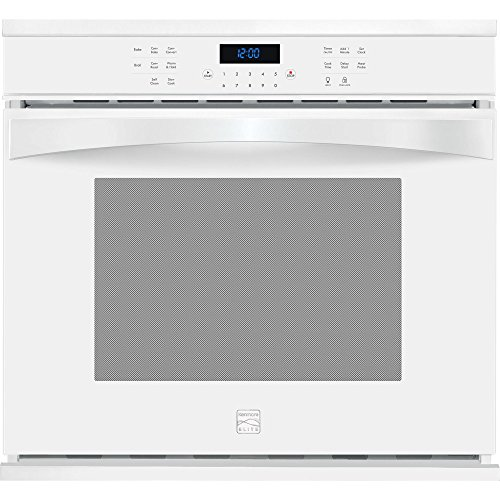 Kenmore Elite 48352 30″ Electric Single Wall Oven with True Convection in White, includes delivery and hookup (Available in select cities only)