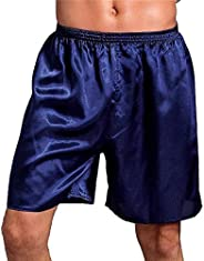 Cicilin Men's Satin Boxer Shorts Silk Pajamas Shorts Sleepwear Boxers Under