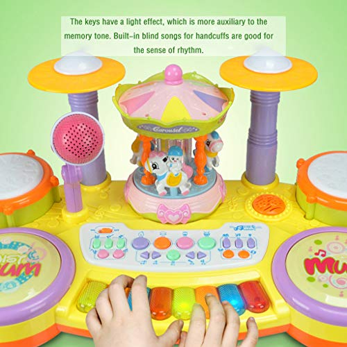Multifunctional Electronic Piano Carousel High Fidelity Microphone Music Piano Listen To Your Baby Or Child's Voice Anytime, Anywhere The Best Gift For Your Children On Chilfren's Day by YOCrazy-US Direct (Image #9)