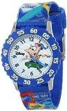 Disney Kids' W000373 Phineas Stainless Steel Time Teacher Blue Bezel Printed Strap Watch