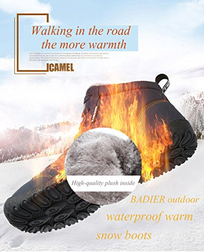 Non boots Snow Outdoor waterproof Sneakers slip Boots Grey BADIER mountaineer Slippers indoor Winter Warm Hiking Womens Ultimate shoes Mens vqd06v