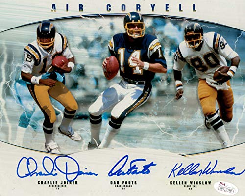 San Diego Chargers Hall Of Fame Autographed Signed 8x10 Photo Joiner, Winslow, Fouts - JSA Certified