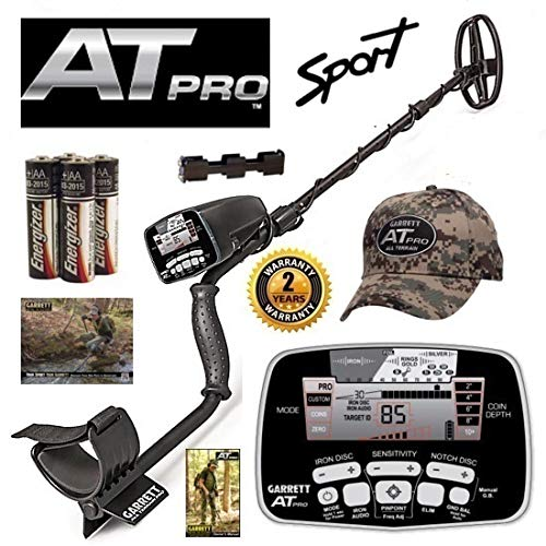 Garrett at Pro Metal Detector Holiday Special with 5×8 DD Coil and Camo Hat