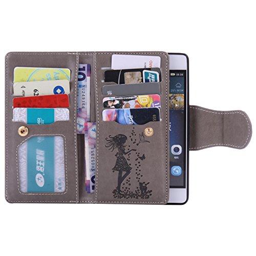 Silikonsoftshell PU Hülle für Huawei P8 Lite (5 Zoll) Tasche Schutz Hülle Case Cover Etui Strass Schutz schutzhülle Bumper Schale Silicone case iNuFw4