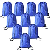 Cinch Sack Drawstring Backpacks for Kids Party Favors Bags Sport Gym Drawstring Bags Bulk - 10 Packs