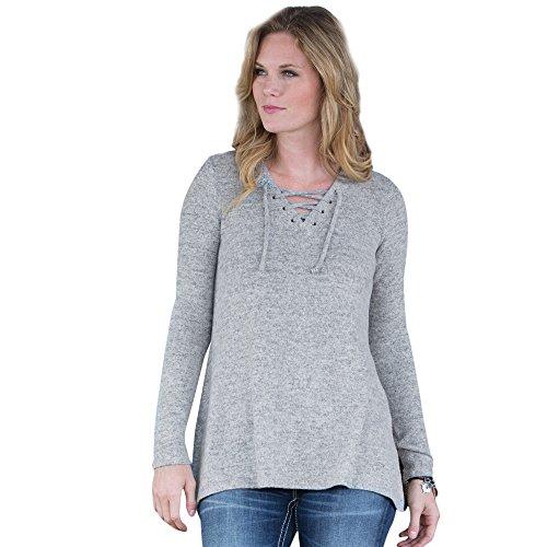 Lacing Up In Lubbock Sweater - In Women Lubbock