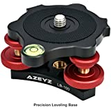 """Leveling Base Camera Leveling Base For Precision Leveling With 3 Bubble Levels And 3 Leveling Wheels With 3/8"""" Mounting Screw"""