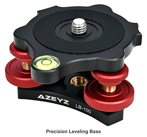 Leveling Base Camera Leveling Base For Precision Leveling With 3 Bubble Levels And 3 Leveling Wheels With 3/8