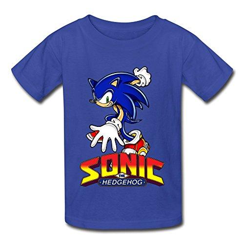 TBTJ Sonic The Hedgehog ACT Shirt For Boys And Girls 6-16 Years Old RoyalBlue Medium (Adult Hedgehog)