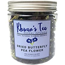 Pure Dried Butterfly Pea Flowers Blue Tea Clitoria Flower Herbal Retreat 100% Organic Nontoxic, GMO Free, 0.71 Oz.