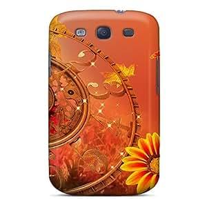 Awesome BOeoJjZ328xicbK LatonyaSBlack Defender Tpu Hard Case Cover For Galaxy S3- Clock Falling Back