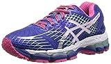 ASICS Women's Gel-Nimbus 17 Running Shoe,Lightning/White/Hot Pink,6 M US