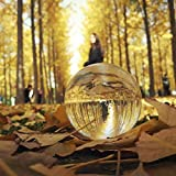 Genuinestore Crystal Ball -Crystal Meditation Ball Globe 100 mm | Solid K9 Crystal Sphere Photography Prop 4 inch Clear -Perfect Home Office Decor