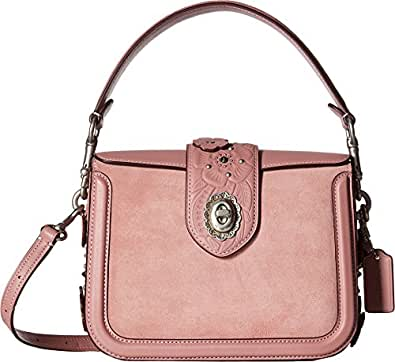 COACH Women's Tea Rose Tooling with Applique Page Crossbody Lh/Dusty Rose Handbag