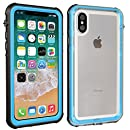 iPhone X Waterproof Case with Screen Full Body Protector,Beasyjoy Wireless Charging Support Strong Cover Shockproof Snowproof Dropproof Armor Defender for Outdoor Sports (Mint Green)