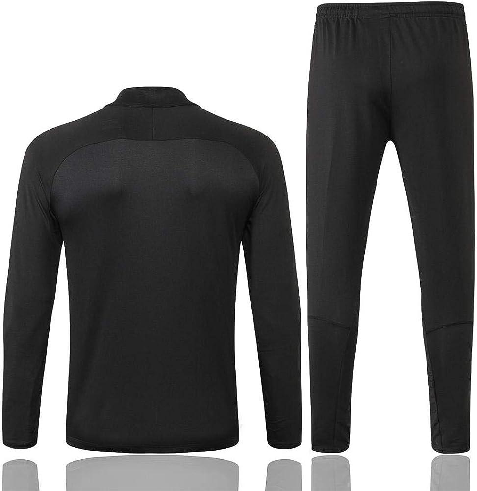 XL zhaojiexiaodian Paris Schwarz Langarm Fu/ßballbekleidung Fr/ühling und Herbst Jacke Aussehen Erwachsene Sweatshirts Trainingsanz/üge