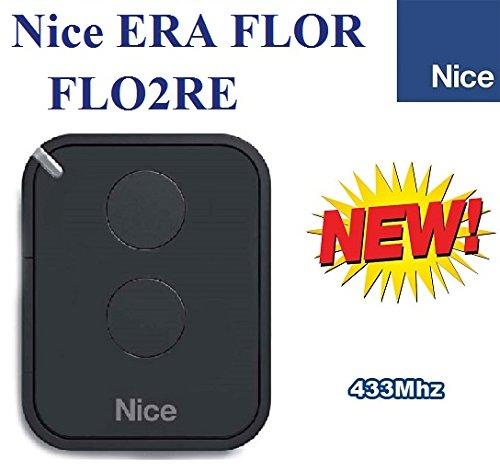 Compatible con FLOR INTI-S NICE FLO2RE ERA FLOR-Juego 2 Canal Mando 433,92Mhz Trasmettitore ERA ONE ONE