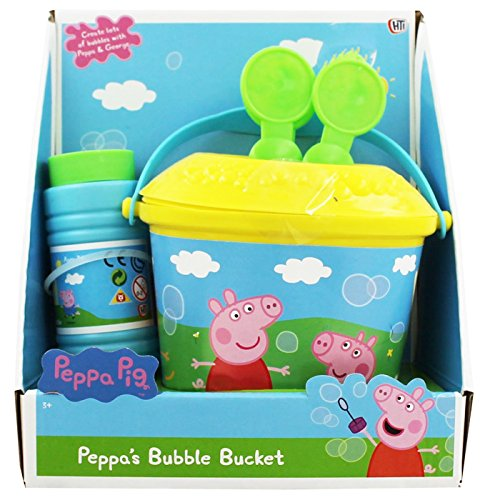 Peppa Pig Non Spill Bubble Bucket With Solution