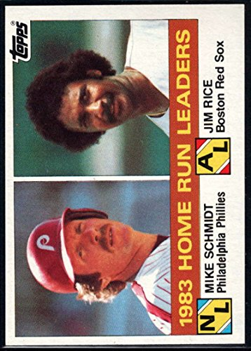 Baseball MLB 1984 Topps #132 Mike Schmidt/Jim Rice Home Run Leaders