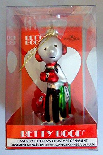 Kurt S. Adler Betty Boop Hand Crafted Glass Christmas Orname